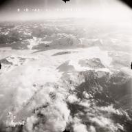 Glaciers North of Drift River, aerial photograph FL109, Alaska, United States
