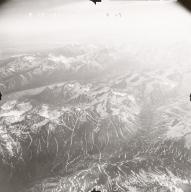 Glaciers NE of Twin Lakes, aerial photograph FL109, Alaska, United States
