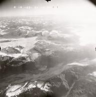 Unknown glacier near Mount Redoubt, aerial photograph FL109, Alaska, United States