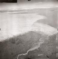 No glacier near Redoubt Volcano, aerial photograph FL64, Alaska, United States