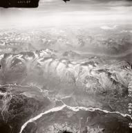 Unnamed glaciers near Kontrashibuna Lake, aerial photograph FL71, Alaska, United States