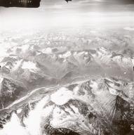 Unknown glaciers east of Lake Clark, aerial photograph FL71, Alaska, United States