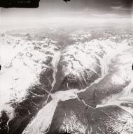 Unknown glaciers NW of Iliamna Volcano, aerial photograph FL71, Alaska, United States