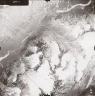 Glaciers East of Lake Clark, aerial photograph FL71, Alaska, United States