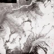 Unknown glaciers, Aleutian Range, aerial photograph FL71, Alaska, United States