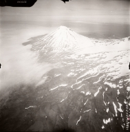 Mount Vsevidof, aerial photograph FL77, Alaska, United States