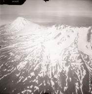Mount Recheshnoi and Mount Vsevidof, aerial photograph FL77, Alaska, United States