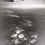Unknown cirque glaciers, Iliamna Lake, aerial photograph FL82, Alaska, United States