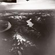 Tuxedni Bay and Crescent Lake, aerial photograph FL82, Alaska, United States