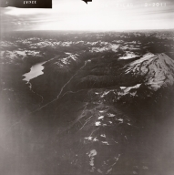 Redoubt Volcano and Crescent Lake, aerial photograph FL82 Alaska, United States
