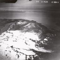 Red Glacier, Iliamna Volcano, aerial photograph FL 82, Alaska, United States