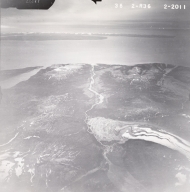 Lateral Glacier, aerial photograph FL82, Alaska, United States