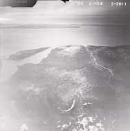 Tuxedni Bay, aerial photograph FL82, Alaska, United States