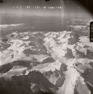 Unknown glacier, Aleutian Range, aerial photograph FL90, Alaska, United States