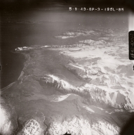 Kukak Volcano, aerial photograph FL92, Alaska, United States