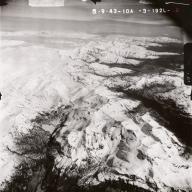 Kukak Volcano, aerial photograph FL95, Alaska, United States