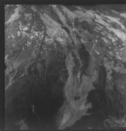Nisqually Glacier, aerial photograph FL 86NC1, Washington, United States