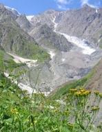 Devdoraki Glacier (Mq'invari Devdorak'i), Mtskheta-Mtianeti, Georgia; Russian Federation