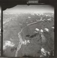 Yanert Glacier, aerial photograph FL 17 R-20, Alaska