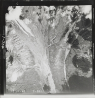 South of Black Rapids Glacier, aerial photograph FL 55 V-5, Alaska
