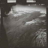 Eldridge Glacier, aerial photograph FL 58 L-28, Alaska