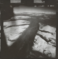 Glaciated valley south of Alaska Range, aerial photograph FL 58 L-63, Alaska