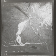 Mentasta and Nutzotin Mountains, aerial photograph FL 58 V-24, Alaska