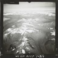 Glacier near Skwentna River, aerial photograph FL 59 L-17, Alaska