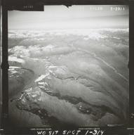 Glacier near Skwentna River, aerial photograph FL 59 L-20, Alaska