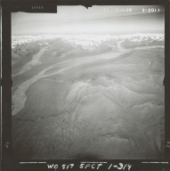 Glacier near Mount Russell, aerial photograph FL 59 R-35, Alaska