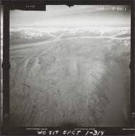Glacier near Mount Russell, aerial photograph FL 59 L-40 , Alaska
