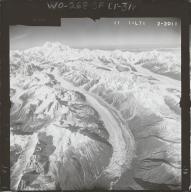 Ruth Glacier, aerial photograph FL 59 L-71, Alaska
