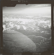Glacier near Broad Pass, aerial photograph FL 59 R-87, Alaska