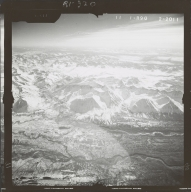 Glacier near Broad Pass, aerial photograph FL 59 R-90, Alaska
