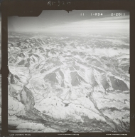 Unknown glaciers near Broad Pass, aerial photograph FL 59 R-94, Alaska