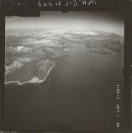 Glacier near Iliamna Volcano, aerial photograph FL 73 L-39, Alaska