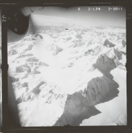 West Fork Glacier, aerial photograph FL 80 L-56, Alaska