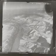 Hayes Glacier, aerial photograph FL 80 R-61, Alaska