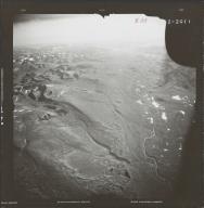 Glacier in southwestern Alaska Range, aerial photograph FL 83 R-55, Alaska