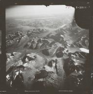 Glacier near Chikuminuk Lake, aerial photograph FL 83 R-69, Alaska