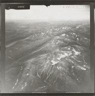 Unknown glaciers near Nuyakuk Lake, aerial photograph FL 84 L-44, Alaska