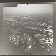 Unknown glaciers near Akuluktok Peak, aerial photograph FL 84 R-47, Alaska