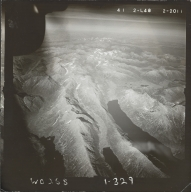Unknown glaciers near Lake Nerka, aerial photograph FL 85 L-48, Alaska