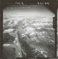Unknown glaciers in the southwest Alaska Range, aerial photograph FL 110 L-59, Alaska