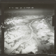 Unknown glaciers in the southwest Alaska Range, aerial photograph FL 110 R-49, Alaska
