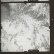 Unknown glaciers in the southwest Alaska Range, aerial photograph FL 110 V-49, Alaska
