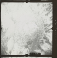 Unknown glaciers in the southwest Alaska Range, aerial photograph FL 110 V-52, Alaska