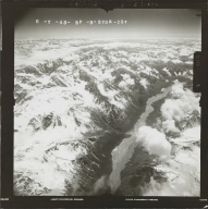 Unknown glaciers west of Mount Gerdine, aerial photograph FL 111 R-157, Alaska