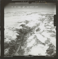 Unknown glaciers in the southwest Alaska Range, aerial photograph FL 111 R-162, Alaska