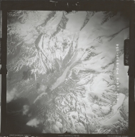 Unknown glaciers in the southwest Alaska Range, aerial photograph FL 111 V-154, Alaska